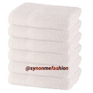 6 Pack 22x44 inch Bath Towel 100% Cotton (Vanilla)